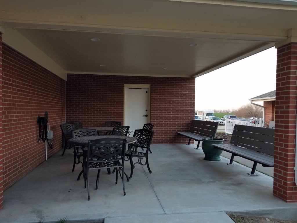 Patio and Storm Shelter