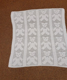 Crocheted Blanket Pink Teddy Bears 270x320 - Crocheted Blanket With Bears (Pink) - 28 1/2 x 28 1/2