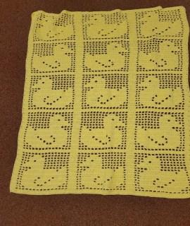 Crocheted Blanket Yellow Ducks 270x320 - Crocheted Blanket With Ducks (Yellow)