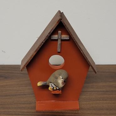 Wooden Bird House 1 370x370 - Wooden Bird House