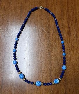 """Blue Necklace 270x320 - Blue Necklace - 24"""""""