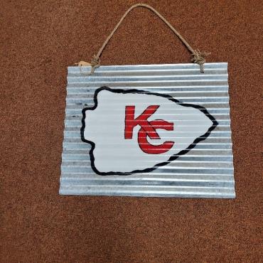 "KC Sign 20 X 16 370x370 - KC Chiefs Sign - 20"" X 16"""